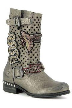 Bottes Curiosite Mi Boots en cuir avec écussons(115470527)