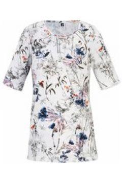 Rundhals-Shirt mit 1/2-Arm Anna Aura ecru/multi(111504028)
