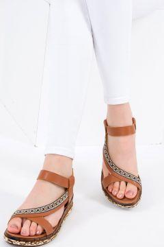 Fox Shoes Taba Kadın Sandalet(116989732)