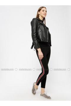 Red - Black - Legging - AKBENİZ(110331045)