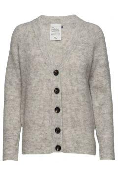 04 The Knit Cardigan Cardigan Strickpullover Grau DENIM HUNTER(116469728)