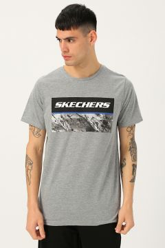 Skechers Gri Baskılı T-Shirt(122706276)
