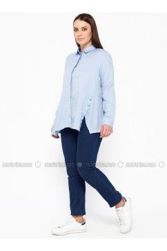 Black - Denim - Plus Size Pants - RMG(110322973)