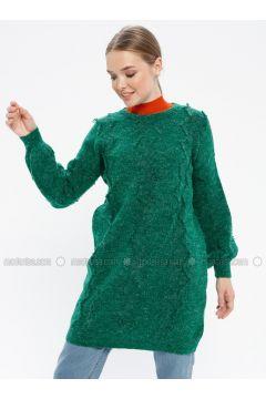 Green - Crew neck - Acrylic -- Knitwear - REPP(110337632)
