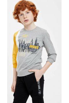 DeFacto Erkek Çocuk Renk Bloklu Baskılı Sweatshirt(108988144)