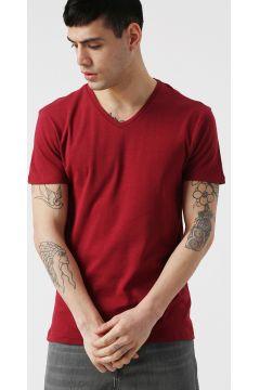 Koton V Yaka Kırmızı T-Shirt M 847969(118428995)