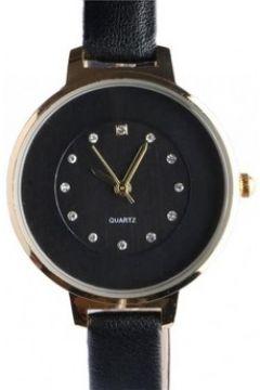 Montre Michael John Fin bracelet montre femme noir dore strass classe Prestya(115413215)