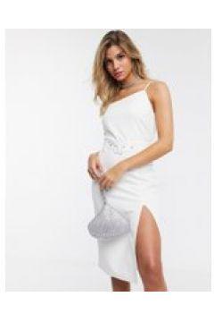 4th Reckless - Vestito midi con spacco laterale bianco(120329015)