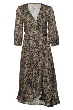 Snakey Alva Dress Kleid Knielang Braun BECKSÖNDERGAARD(118239989)