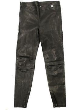 Pantalon Rich Royal Pantalon Noir Cuir 13Q997(101684102)