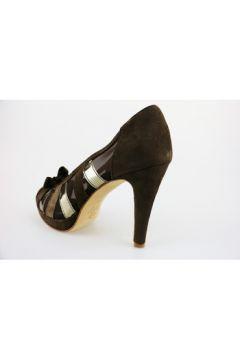 Chaussures escarpins Calpierre escarpins marron daim textile AG636(115393505)