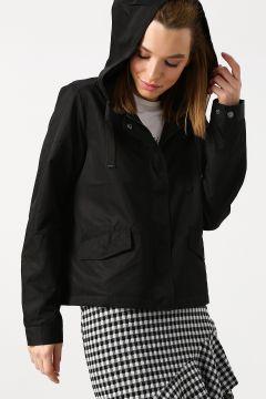 Only Kapüşonlu Siyah Ceket(108914325)