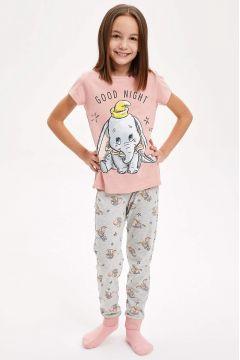 DeFacto Kız Çocuk Walt Disney Lisanslı Pijama Takımı(119061871)