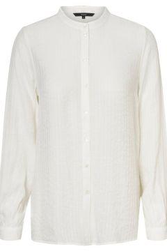 VERO MODA Hoge Kraag Overhemd Dames White(114504604)