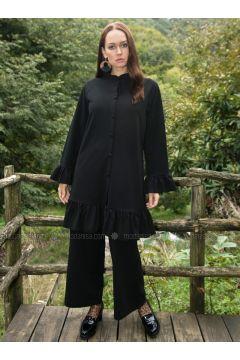 Black - Crepe - Suit - Ayşen Özen(110327057)