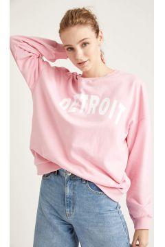 DeFacto Kadın Yazı Baskılı Oversize Sweatshirt(125934174)
