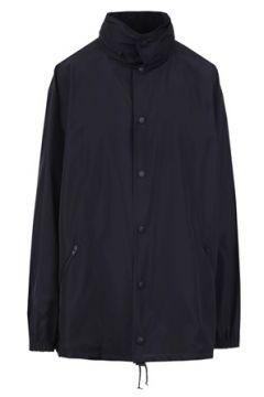 Balenciaga Kadın Siyah Dik Yaka Sırtı Logo Baskılı Rüzgarlık Ceket 32 FR(114438661)