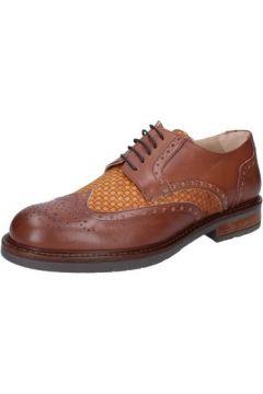 Ville basse Fdf Shoes élégantes marron cuir textile BZ344(115398921)