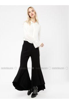 Black - Cotton - Pants - Minimal Moda(110331148)