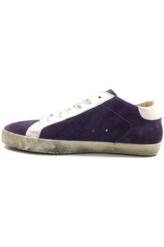 Baskets Blauer sneakers pourpre daim blanc cuir ky865(88526978)