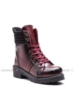 Maroon - Boot - Boots - Esem(110336584)