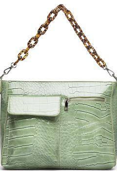 Amble Pocket Croco Bags Top Handle Bags Grün HVISK(114165824)