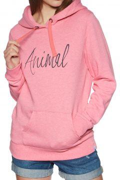 Animal Sketched Damen Kapuzenpullover - Strawberry Pink Marl(110360968)