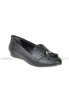Black - Flat - Flat Shoes - Vizon(110330307)