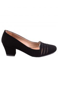 Caprito Siyah Süet Kadın Topuklu Ayakkabı(116807144)