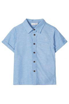 NAME IT Kurzärmeliges Baumwoll Hemd Herren Blau(110704748)