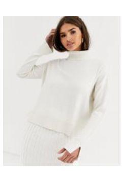 Micha Lounge - Maglione accollato elegante in misto lana in coordinato-Crema(112349186)