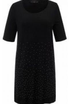 Shirt Longshirt mit Rundhals-Ausschnitt Emilia Lay schwarz(119484823)