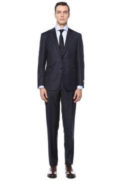 Canali Erkek Drop 6 Lacivert Yün Takım Elbise 48 IT(123205347)