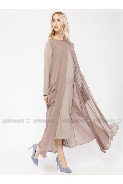 Beige - Crew neck - Unlined - Dresses - Minimal Moda(110331213)