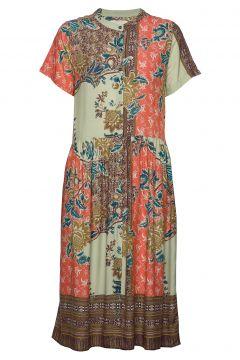 Aliya Dress Kleid Knielang Bunt/gemustert LOLLYS LAUNDRY(109242979)