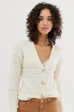 Warehouse - Cardigan testurizzato color avorio-Crema(123218852)