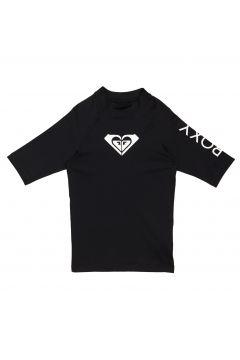 Roxy Whole Hearted Short Sleeve Mädchen Rash Vest - Anthracite(100258651)