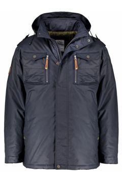 Brigg: Sportlich-leichter Jacke, lang, in Wachsoptik, 4XL, Dunkelblau(123057967)