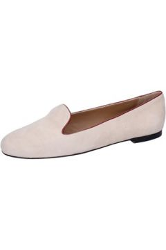 Chaussures Bally mocassins beige daim rouge BY05(88522546)