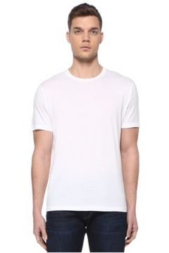 Kiton Erkek Beyaz Basic T-shirt XL EU(107864083)