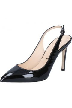 Sandales Capitini sandales noir cuir verni BZ495(115399363)