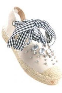 Pantofelek24.pl | Wiązane espadryle- dwa sposoby noszenia BEŻOWE(112083074)