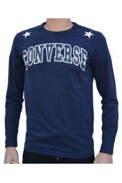 Sweat-shirt Converse Fleece Felpa Logo Maglia Blu(115476763)