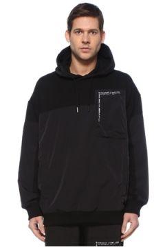 Givenchy Erkek Siyah Kapüşonlu Garni Detaylı Sweatshirt XS EU(127545854)