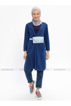 Navy Blue - Cotton - Cardigan - Beha Tesettür(110328405)