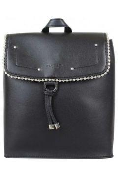Sac à dos Fuchsia Sac à dos à rabat déco perle reliée Botton Noir(101588017)