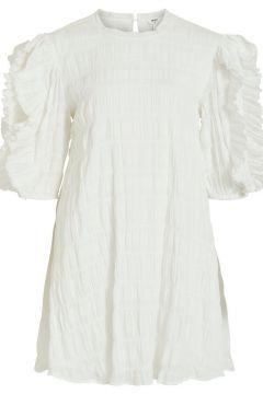 OBJECT COLLECTORS ITEM 3/4-mouw Ruche Mini Jurk Dames White(113672256)