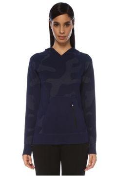 Jerf Kadın Bandon Mavi Kapüşonlu Desenli Sweatshirt S/M EU(119229914)
