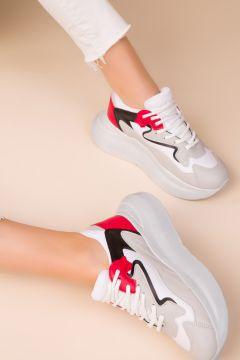 SOHO Buz Kırmızı Siyah Kadın Sneaker(110945864)