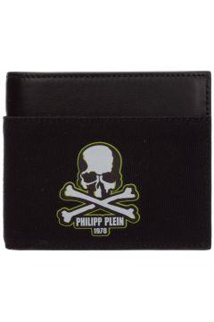 Men's genuine leather wallet credit card bifold skull(118300268)